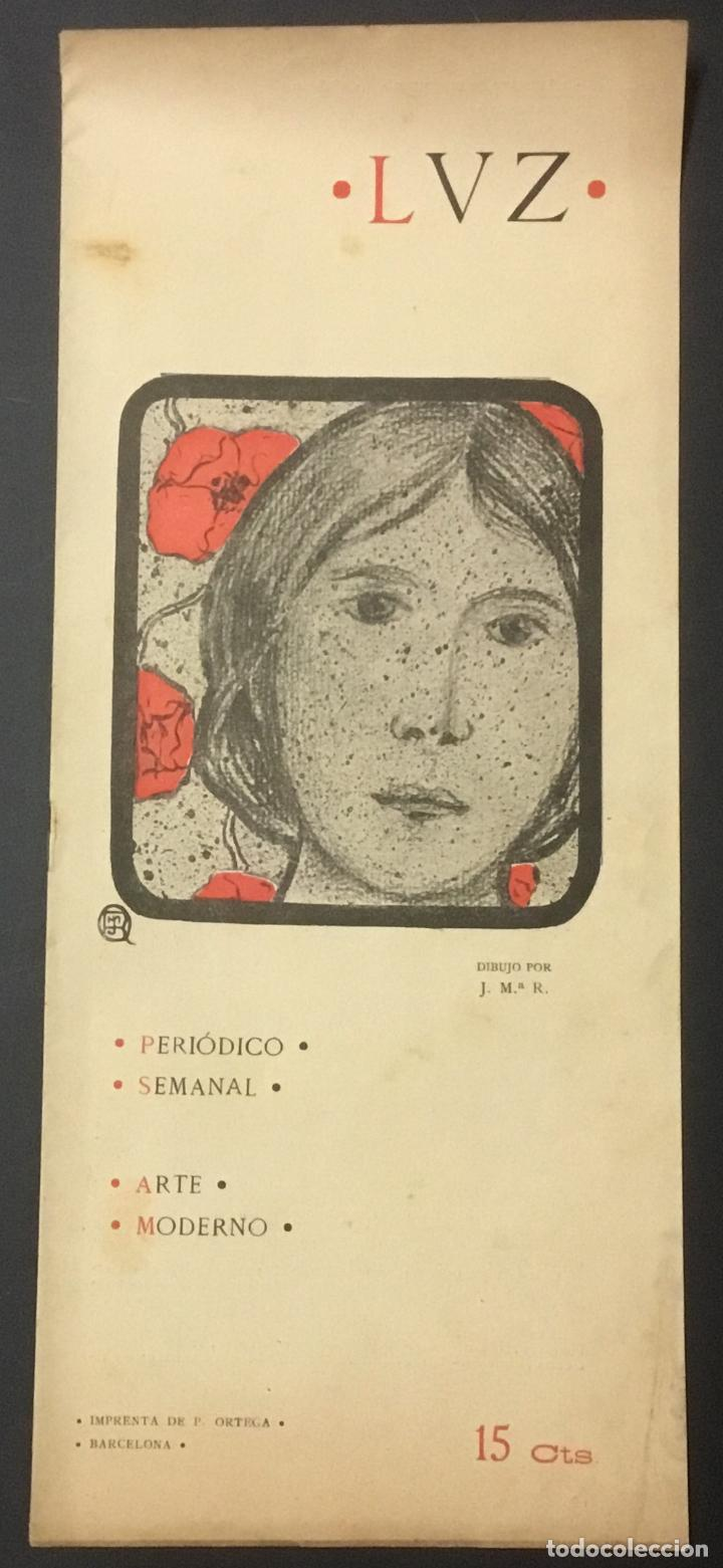 Coleccionismo de Revistas y Periódicos: REVISTA LUZ. 2ª ÉPOCA. 8 NÚMEROS. RARÍSIMA REVISTA MODERNISTA. - Foto 9 - 104057303