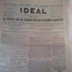 Coleccionismo de Revistas y Periódicos: GUERRA CIVIL. IDEAL GRANADA DICIEMBRE 1936. DERROTA REPUBLICANA EN ASTURIAS.. Lote 104092159