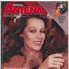 Coleccionismo de Revistas y Periódicos: SEMANAL ANTENA - 1987 - MASSIEL, IRMA SORIANO. Lote 104137119