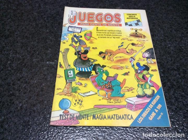 JUEGOS PARA GENTE DE MENTE Nº 91 - REVISTA DE JUEGOS DE LOGICA (Coleccionismo - Revistas y Periódicos Modernos (a partir de 1.940) - Otros)