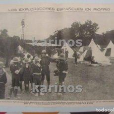 Collectionnisme de Revues et Journaux: 1914 RIOFRÍO (AVILA), EXPLORADORES (BOY-SCOUTS) ESPAÑOLES. FILIPINAS, ESCENAS DE SALVAJISMO. GALES, . Lote 104209811