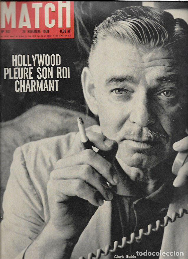 Revista Paris Match Muerte De Clark Gable Sold Through