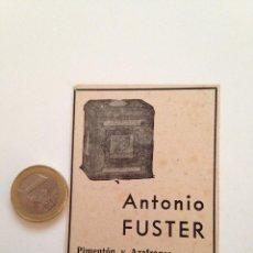 Coleccionismo de Revistas y Periódicos: PUBLICIDAD REVISTA ORIGINAL AÑOS 30. PIMENTON Y AZAFRANES ANTONIO FUSTER, ESPINARDÓ (MURCIA). Lote 104256163