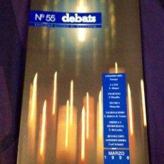 Coleccionismo de Revistas y Periódicos: DEBATS NO.55. REVISTA CULTURAL 1996. Lote 104327247