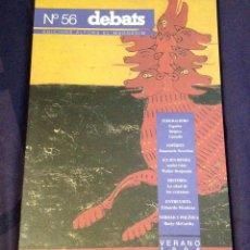 Coleccionismo de Revistas y Periódicos: DEBATS NO. 56. REVISTA CULTURA 1996. Lote 104327632