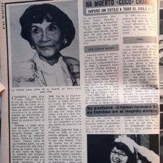 Coleccionismo de Revistas y Periódicos: COCO CHANEL KATHERINE HEPBURN . Lote 104329059