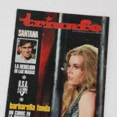 Coleccionismo de Revistas y Periódicos: REVISTA TRIUNFO 1967 - JANE FONDA, BARBARELLA, GEORGE SEGAL, JEAN HALE, MANOLO SANTANA. Lote 104471619