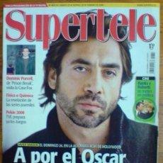 Coleccionismo de Revistas y Periódicos: REVISTA SUPERTELE N°832. JAVIER BARDEM. AÑO 2008. Lote 104473503