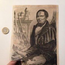 Coleccionismo de Revistas y Periódicos: GRABADO REVISTA ORIGINAL SIGLO XIX. EL PINTOR DUCORNET. Lote 104565050