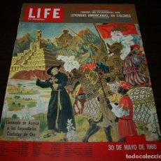 Coleccionismo de Revistas y Periódicos: REVISTA LIFE EN ESPAÑOL - 30 MAYO 1960 - EN PORTADA: LEYENDAS AMERICANAS. Lote 104745787