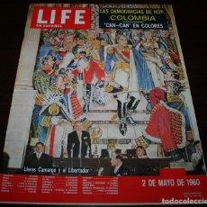Coleccionismo de Revistas y Periódicos: REVISTA LIFE EN ESPAÑOL - 2 MAYO 1960 - EN PORTADA: LLERAS CAMARGO Y EL LIBERTADOR. Lote 104745803