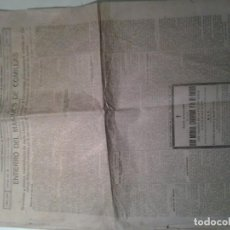 Coleccionismo de Revistas y Periódicos: PERIODICO EL DIARIO MONTAÑES 1925.ENTIERRO DEL MARQUES DE COMILLAS.. Lote 104797527