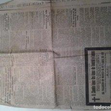 Coleccionismo de Revistas y Periódicos: PERIODICO EL PUEBLO CANTABRO.DOMINGO 19 DE ABRIL DE 1925.FALLECIMIENTO MARQUES COMILLAS. Lote 104802195