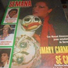 Coleccionismo de Revistas y Periódicos: SEMANA - 26 -4 -1980 -MARI CARMEN SE CASA.. Lote 104806639