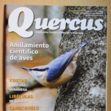 Coleccionismo de Revistas y Periódicos: REVISTA QUERCUS CUADERNO 354 AGOSTO 2015. ANILLAMIENTO CIENTIFICO DE AVES. CAMACHUELO TROMPETERO.... Lote 104886431