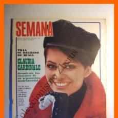 Coleccionismo de Revistas y Periódicos: SEMANA Nº 1524 - 3 MAYO 1969 - CLAUDIA CARDINALE, SARA MONTIEL, LAURA VALENZUELA, FERIA SEVILLA. Lote 104980295