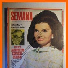 Coleccionismo de Revistas y Periódicos: SEMANA Nº 1497 - 28 OCTUBRE 1968 - JACQUELINE KENNEDY-ONASSIS, ANA BELEN, PAQUITA TORRES. Lote 104986535