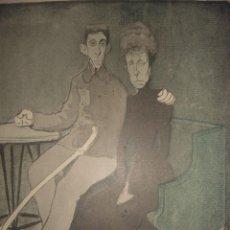 Coleccionismo de Revistas y Periódicos: ESPLENDIDA CARICATURA SATÍRICA, DE ALFONSO XIII Y LA REGENTE , ORIGINAL,1901, PARIS, LEAL DA CAMARA. Lote 104987587