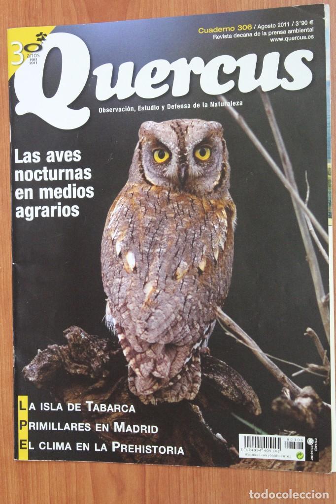 REVISTA QUERCUS - CUADERNO 306 - AGOSTO 2011 AVES NOCTURNAS, ISLA DE TABARCA (Coleccionismo - Revistas y Periódicos Modernos (a partir de 1.940) - Otros)