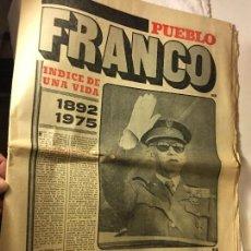 Coleccionismo de Revistas y Periódicos: REVISTA PERIODICO PUEBLO FRANCO EL CAUDILLO. Lote 105123343