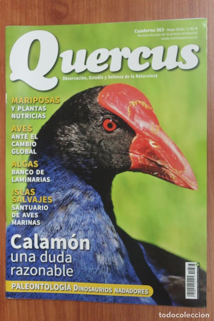 REVISTA QUERCUS - CUADERNO 363 - MAYO 2016 CALAMON, AVES, ALGAS, MARIPOSAS, DINOSAURIOS (Coleccionismo - Revistas y Periódicos Modernos (a partir de 1.940) - Otros)
