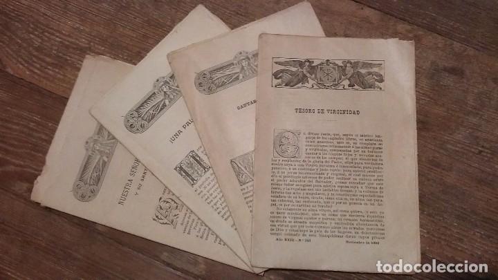LOTE DE CUATRO . REVISTA RELIGIOSA DEL AÑO 1900 Y 1901 (Coleccionismo - Revistas y Periódicos Antiguos (hasta 1.939))