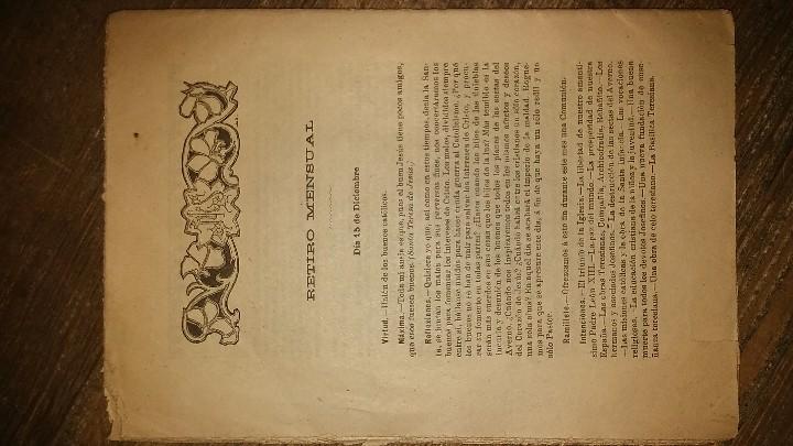 Coleccionismo de Revistas y Periódicos: LOTE DE CUATRO . REVISTA RELIGIOSA DEL AÑO 1900 Y 1901 - Foto 6 - 105312071