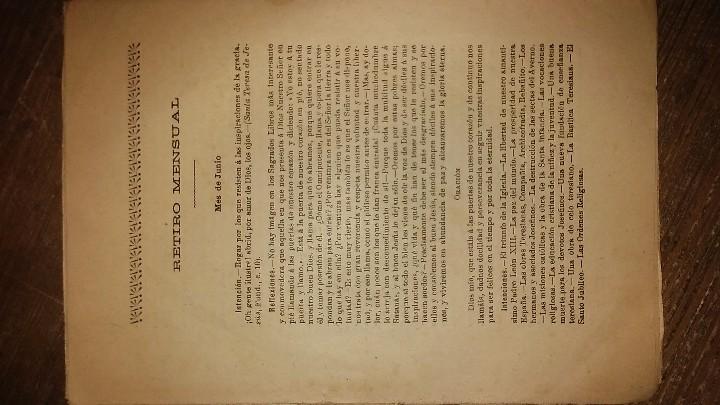 Coleccionismo de Revistas y Periódicos: LOTE DE CUATRO . REVISTA RELIGIOSA DEL AÑO 1900 Y 1901 - Foto 8 - 105312071