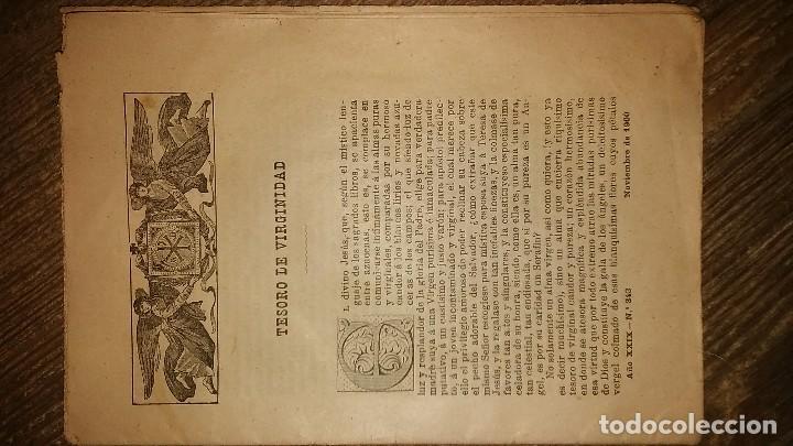 Coleccionismo de Revistas y Periódicos: LOTE DE CUATRO . REVISTA RELIGIOSA DEL AÑO 1900 Y 1901 - Foto 2 - 105312071