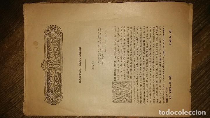 Coleccionismo de Revistas y Periódicos: LOTE DE CUATRO . REVISTA RELIGIOSA DEL AÑO 1900 Y 1901 - Foto 3 - 105312071