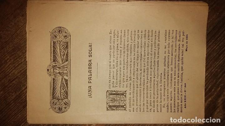 Coleccionismo de Revistas y Periódicos: LOTE DE CUATRO . REVISTA RELIGIOSA DEL AÑO 1900 Y 1901 - Foto 4 - 105312071
