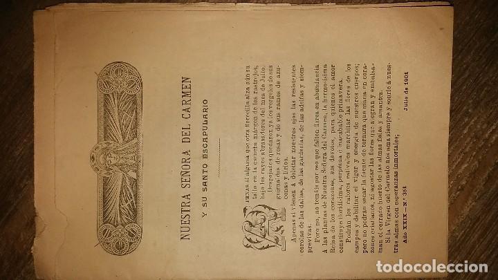 Coleccionismo de Revistas y Periódicos: LOTE DE CUATRO . REVISTA RELIGIOSA DEL AÑO 1900 Y 1901 - Foto 5 - 105312071