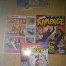 Coleccionismo de Revistas y Periódicos: LOTE 3 REVISTASRAMPAGE MARVEL GAMETYPE COMPUTER HOY. Lote 105336999