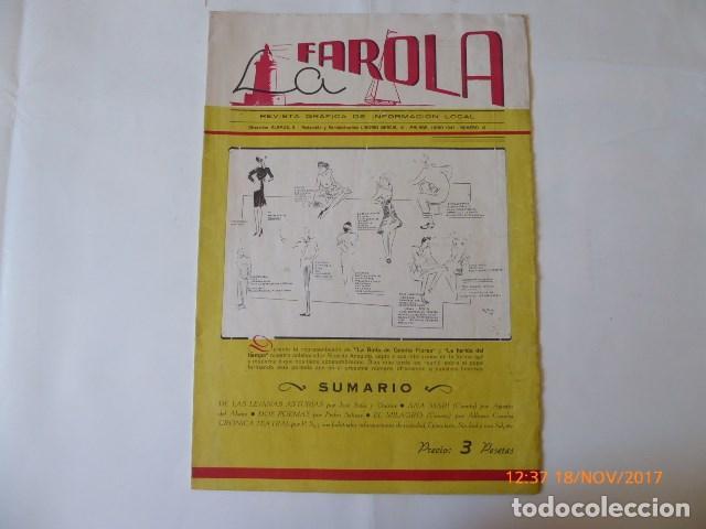 MALAGA, REVISTA LA FAROLA, NUMERO 12, 1943 (Coleccionismo - Revistas y Periódicos Antiguos (hasta 1.939))
