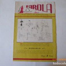 Coleccionismo de Revistas y Periódicos: MALAGA, REVISTA LA FAROLA, NUMERO 12, 1943. Lote 105606763
