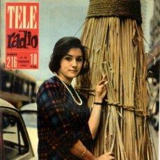 Coleccionismo de Revistas y Periódicos: TELERADIO. REVISTA TELE RADIO N. 216. 12/02/1962. MARÍA DEL CARMEN GARCÍA VELA. . Lote 105939423