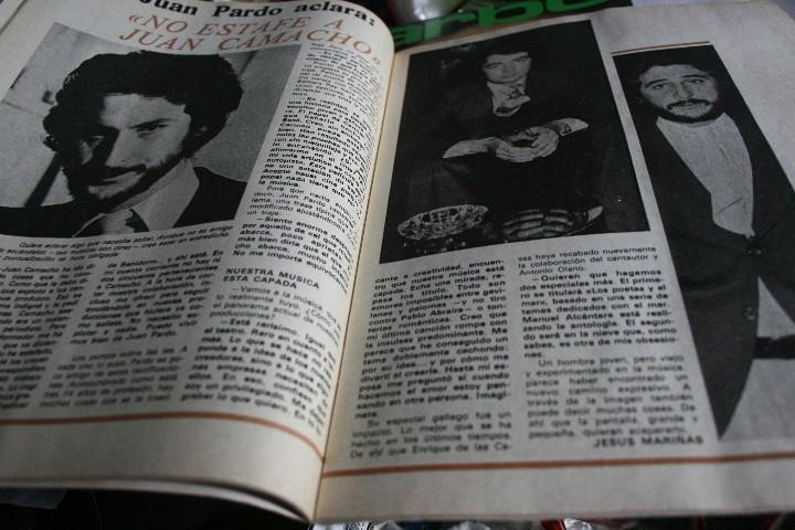 Coleccionismo de Revistas y Periódicos: JUAN CAMACHO SARA MONTIEL MARIA JOSE CANTUDO BARBARA REY DESTAPE ROCIO JURADO 1977 - Foto 2 - 105896431