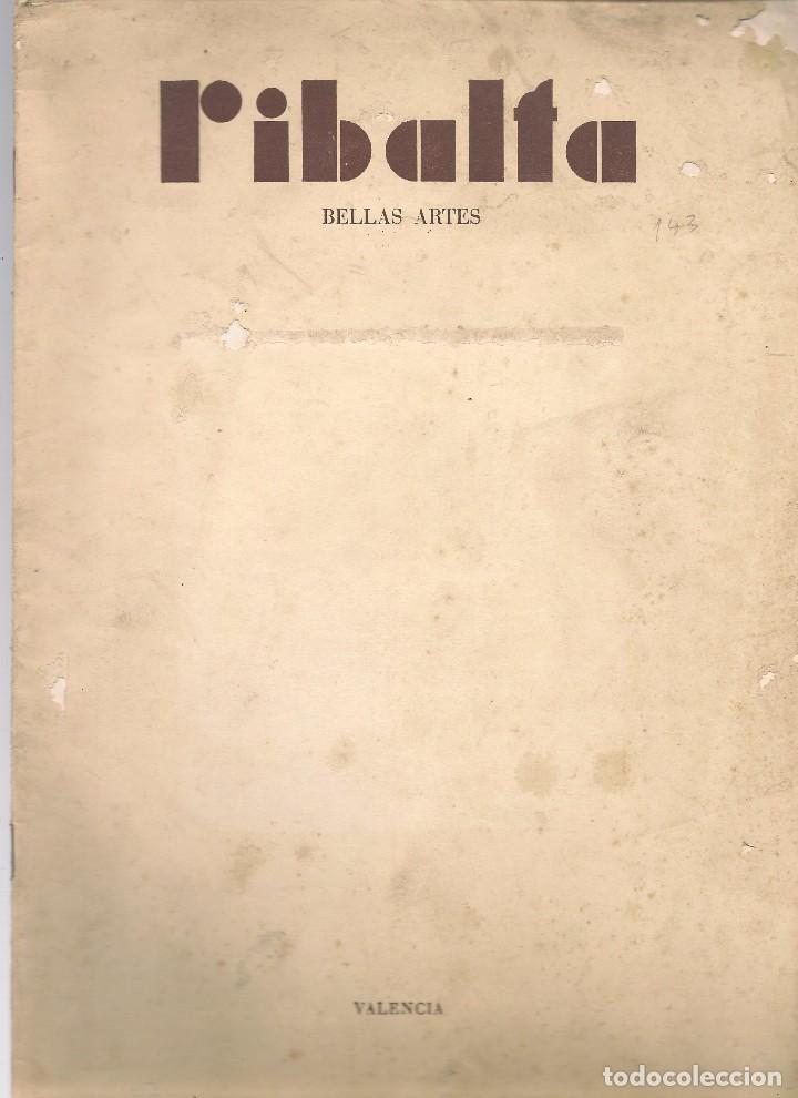 RIBALTA BELLAS ARTES Nº 145 , 1955 VALENCIA, HOMENAJE AL PINTOR MULET, , , FOLIO ,DESLUCIDA (Coleccionismo - Revistas y Periódicos Modernos (a partir de 1.940) - Otros)