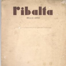 Coleccionismo de Revistas y Periódicos: RIBALTA BELLAS ARTES Nº 145 , 1955 VALENCIA, HOMENAJE AL PINTOR MULET, , , FOLIO ,DESLUCIDA . Lote 106127019