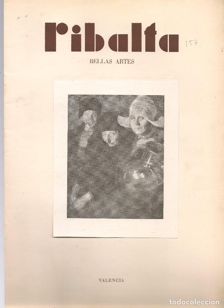 RIBALTA BELLAS ARTES Nº 157 , 1957 VALENCIA, HOMENAJE POSTUMO AL PINTOR LORENZO CERDÁ, , FOLI (Coleccionismo - Revistas y Periódicos Modernos (a partir de 1.940) - Otros)