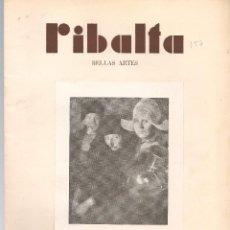 Coleccionismo de Revistas y Periódicos: RIBALTA BELLAS ARTES Nº 157 , 1957 VALENCIA, HOMENAJE POSTUMO AL PINTOR LORENZO CERDÁ, , FOLI. Lote 106127259