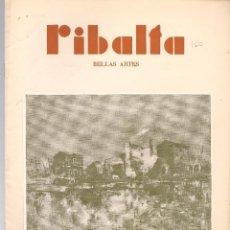 Coleccionismo de Revistas y Periódicos: RIBALTA BELLAS ARTES Nº 160 , 1957 VALENCIA, EXPOSICIÓN DE BRONCHU EN BILBAO ,NASSIO BAYARRI, RICARD. Lote 106127747