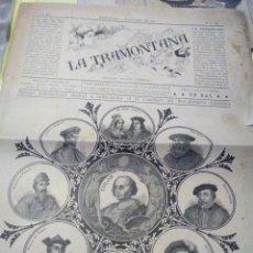Coleccionismo de Revistas y Periódicos: LA TRAMONTANA 1892 N EXTRAORDINARI DEDICAT A CONMEMORAR EL IV CENTENARI DEL DESCUBRIMENT D AMERICA. Lote 106223351