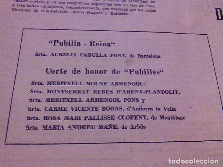 Coleccionismo de Revistas y Periódicos: JUVENTUD SEMANARIO NACIONAL SINDICALISTA VALLS TARRAGONA DIA DE ANDORRA LA VELLA 1967 - Foto 3 - 106584271