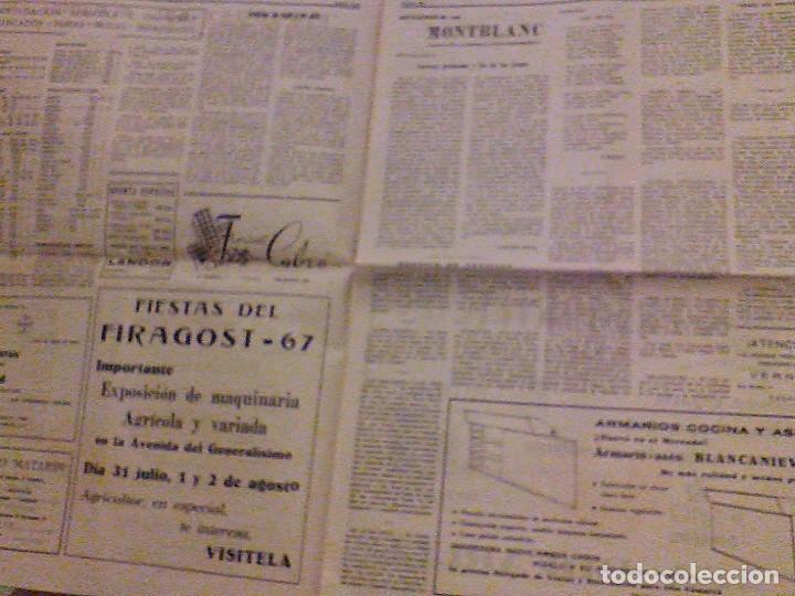 Coleccionismo de Revistas y Periódicos: JUVENTUD SEMANARIO NACIONAL SINDICALISTA VALLS TARRAGONA DIA DE ANDORRA LA VELLA 1967 - Foto 5 - 106584271
