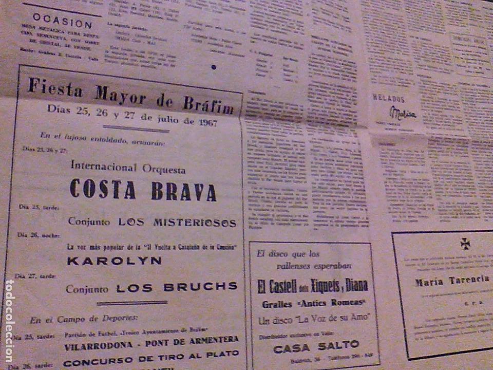 Coleccionismo de Revistas y Periódicos: JUVENTUD SEMANARIO NACIONAL SINDICALISTA VALLS TARRAGONA DIA DE ANDORRA LA VELLA 1967 - Foto 7 - 106584271