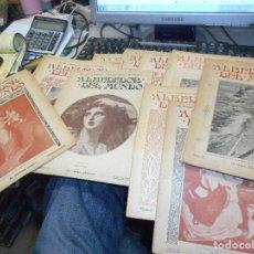 Coleccionismo de Revistas y Periódicos: LOTE 10 NUMEROS DE 1900 PRIMEROS AÑOS REVISTA ALREDEDOR DEL MUNDO. Lote 106584283