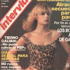 Coleccionismo de Revistas y Periódicos: REVISTA: INTERVIU, NUMERO 0107: JOSELE ROMAN, PURA SEDA (ZETA 1978). Lote 106702255
