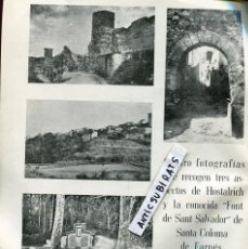 Coleccionismo de Revistas y Periódicos: REVISTA AÑO 1958 HOSTALRIC SANTA COLOMA DE FARNES WINSTON CHURCHILL EN EL FARO DE SAN SEBASTIAN . Lote 106986591