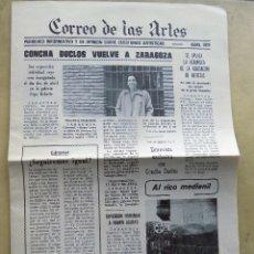 Coleccionismo de Revistas y Periódicos: PERIODICO. CORREO DE LAS ARTES. ABRIL 1979. ZARAGOZA. Lote 107000739